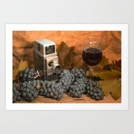 Bell and Howell with Black Grapes Art Print