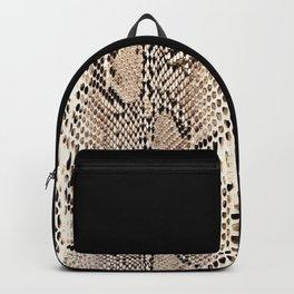 Snake skin art print Backpack