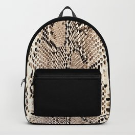 Snake skin art print Backpack