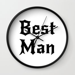 Best Man Groom For Men Wall Clock