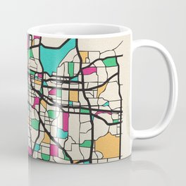 Colorful City Maps: Kansas City, Missouri Coffee Mug