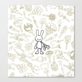 minima - beta bunny / gear Canvas Print