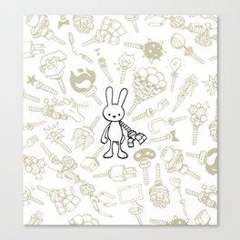minima - beta bunny / gear Canvas Print