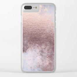 Princess Retro Rose Gold Blush Clear iPhone Case