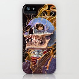 My Ghost Rider - Spirit of Vengeance Portrait: in Memory of Stan Lee iPhone Case