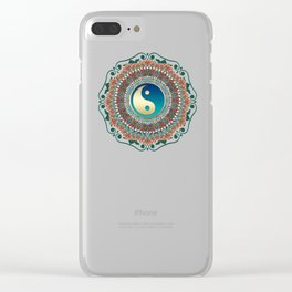 Bohemian Batik Yin Yang Clear iPhone Case