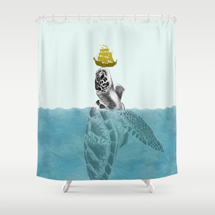 The Giant Sea Turtle Shower Curtain