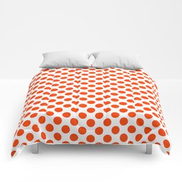 Orange and white polka dots pattern Comforters