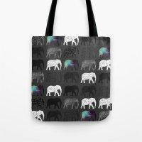 dumbo Tote Bags featuring WHERES DUMBO by Nizhoni Creative Studio
