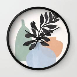 Sea glass vases Wall Clock