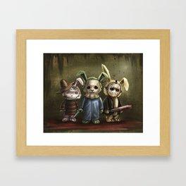 Horror Bunnies - Parody of Jason, Freddy and Michael Myers Framed Art Print