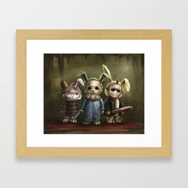 Horror Bunnies - Parody of Jason, Freddy and Michael Myers Framed Art Print