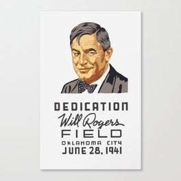 Dedication Will Rogers Field -- WPA Canvas Print