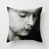 broken Throw Pillows featuring Broken by Sharon Johnstone