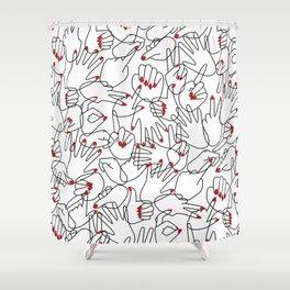 HANDS / pattern pattern Shower Curtain