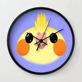 Cockatiel Yellow Birb Baby – v01 Wall Clock
