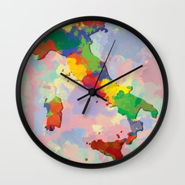 Italy, Outline, Map Wall Clock