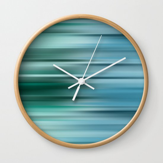 Misty Blue  Wall Clock