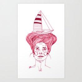 Hairsea Art Print