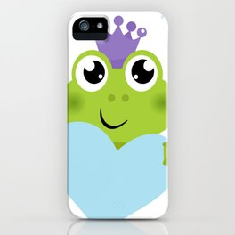 Little cutie smiling  Froggie iPhone Case