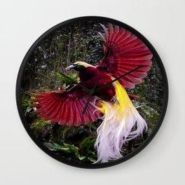 Cendrawasih Beautiful Bird Of Paradise Wall Clock