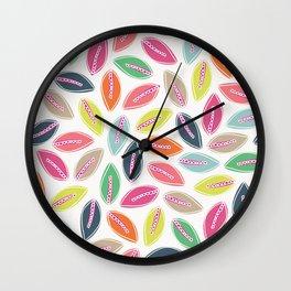 Bright Leaves Wall Clock