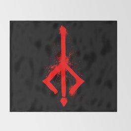 Bloody Rune Throw Blanket