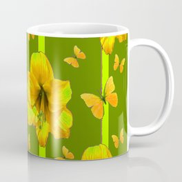 "GREEN AMARYLLIS ""FOR THE LOVE OF BUTTERFLIES"" Coffee Mug"
