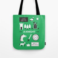 ouat Tote Bags featuring OUAT - A Knight by Redel Bautista