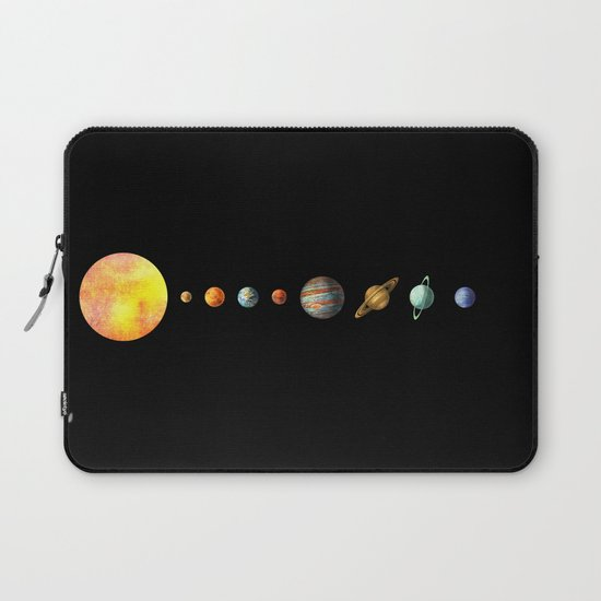 The Solar System Laptop Sleeve by Terry Fan | Society6