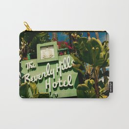 Classy Beverly Hills Hotel Mid Century Modern Neon Sign Carry-All Pouch