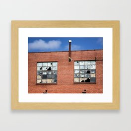 Broken Squares Framed Art Print
