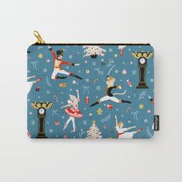 Nutcracker Ballet on Blue Carry-All Pouch