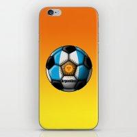 argentina iPhone & iPod Skins featuring Argentina Ball by kuuma