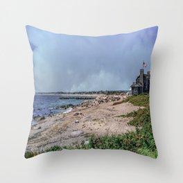 Watch Hill Beach Throw Pillow