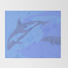 Dolphin Background Throw Blanket