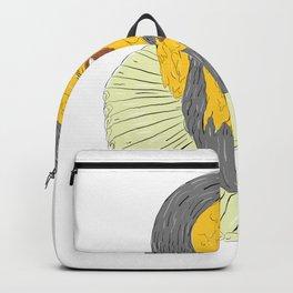 Nobleman Wearing Ruff Collar Grime Art Backpack