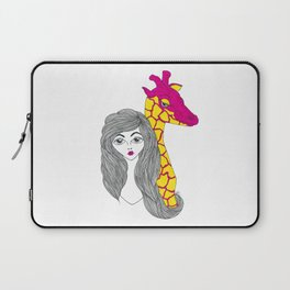 Girl with the Giraffe Laptop Sleeve