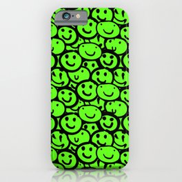 Smiley Face Slime Green iPhone Case