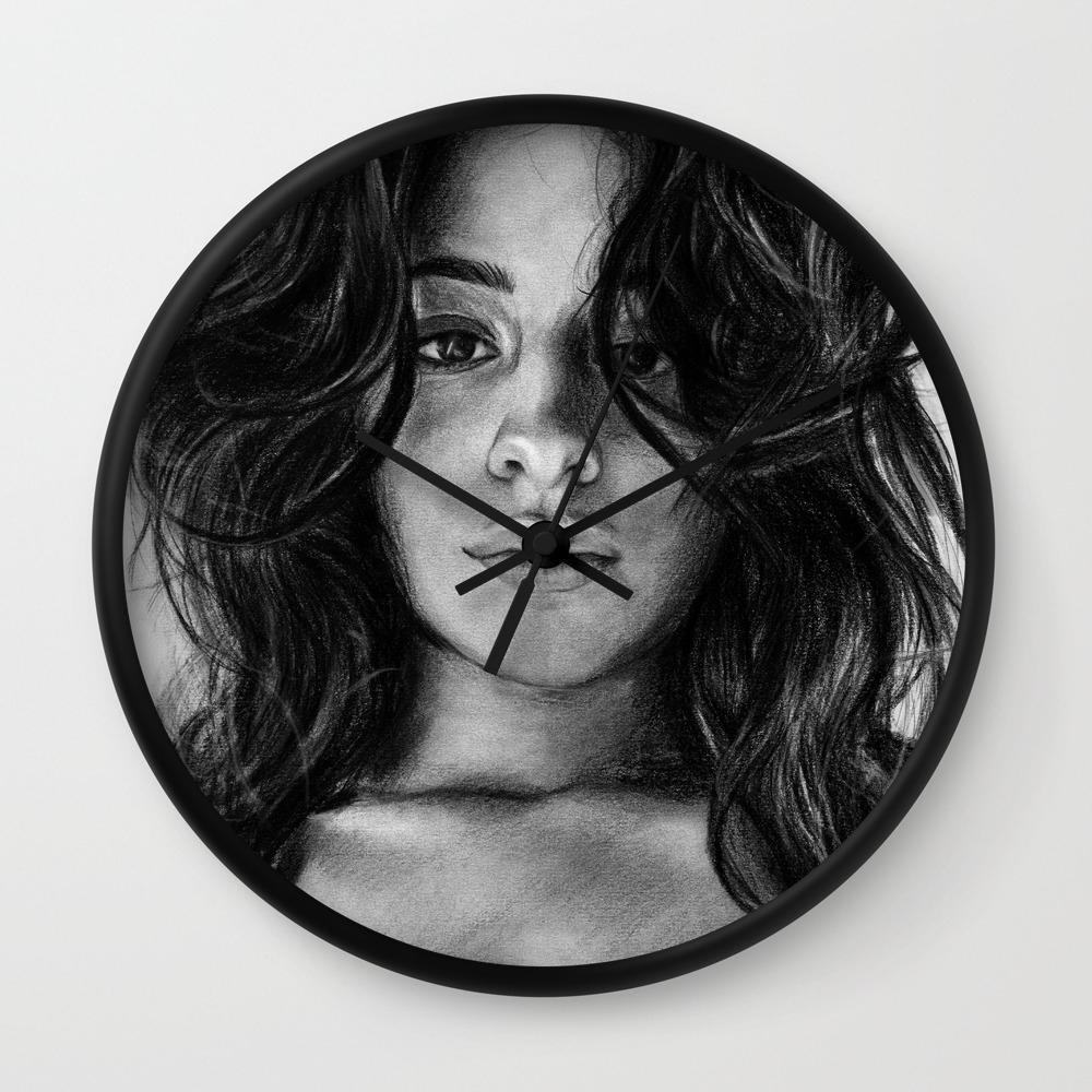 Camila Cabello Drawing Wall Clock