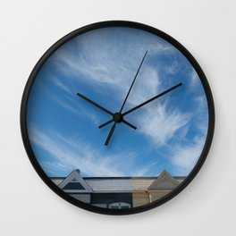 feather clouds Wall Clock