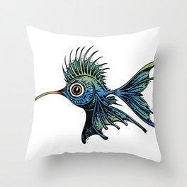 Hummingbird Fish (vector) Throw Pillow