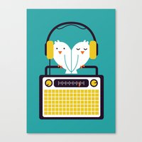 radio Canvas Prints featuring Radio Mode Love by Picomodi