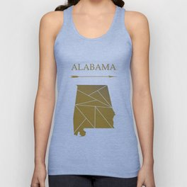 Alabama In Gold Unisex Tank Top