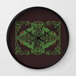 Knot of Frogs Wall Clock