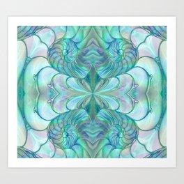 Abalone Shell Nautilus Kalidescope Art Print