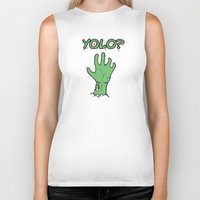 yolo Biker Tanks featuring Yolo? by theDesign Attic