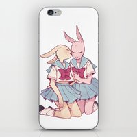 bunnies iPhone & iPod Skins featuring Bunnies by Sophie L