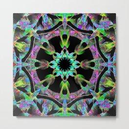 Layers Of Time Mandala Metal Print