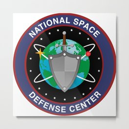 National Space Defense Center Crest Metal Print